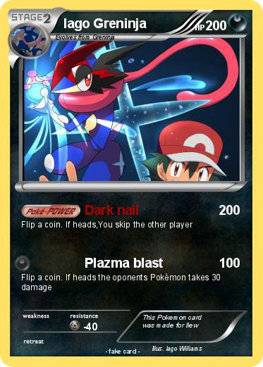 Pokémon Iago Greninja - Dark nail - My Pokemon Card
