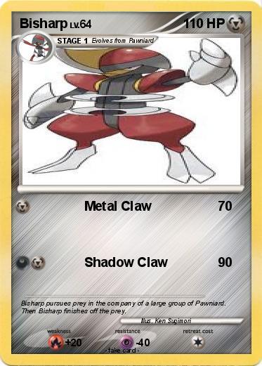 pok u00e9mon bisharp 22 22 - metal claw