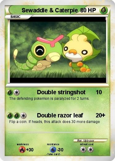 pok233mon sewaddle caterpie double stringshot my pokemon