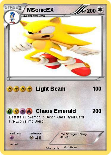 Pok 233 mon msonicex 1 1 light beam my pokemon card