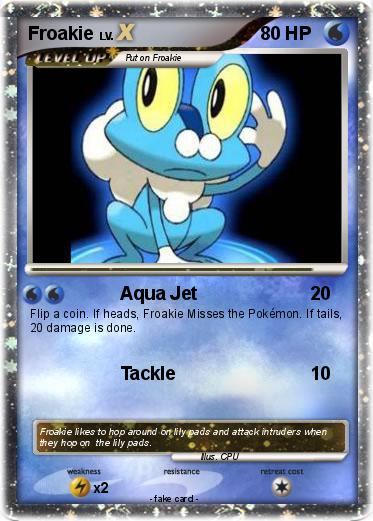 Pokémon Froakie 171 171 - Aqua Jet - My Pokemon Card