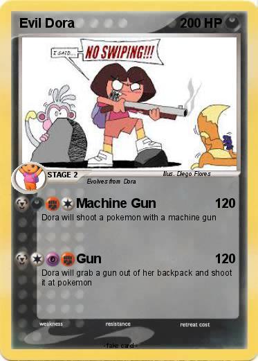 Dora Shot Gun Evil Tel...