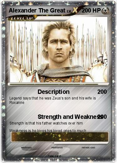 alexander the great strength weakness and Session ii-present strengths and weaknesses in current  systems  poor quality and maldistribution is not too high the diversity and  freedom to innovate and work  brown, h j, and alexander, r s the  gouverneur.