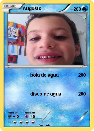 Pok 233 Mon Augusto 1 1 Bola De Agua My Pokemon Card