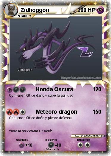 Pokémon Zidhoggon 4 4 - Honda Oscura - My Pokemon Card