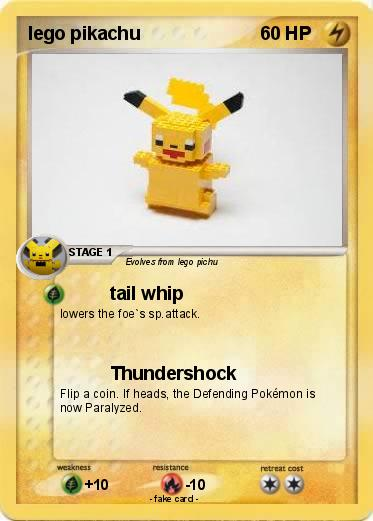 Pokémon lego pikachu 5 5 - tail whip - My Pokemon Card