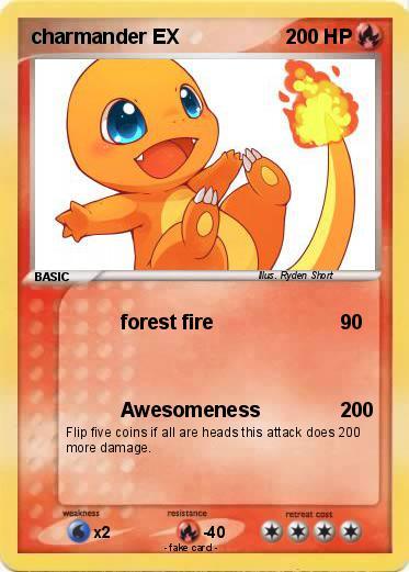 pok233mon charmander ex 44 44 forest fire my pokemon card