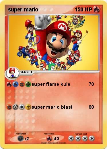Pok 233 Mon Super Mario 5 5 Super Flame Kule My Pokemon Card