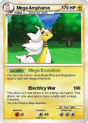 Mega ampharos pokemon card
