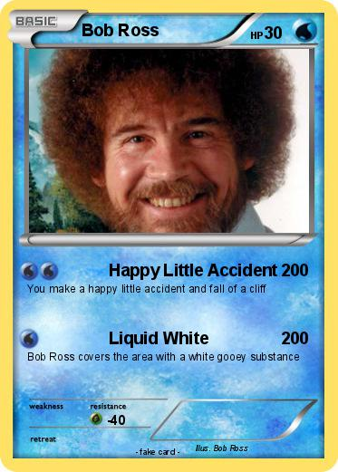 Pokmon Bob Ross 7 Happy Little Accident My Pokemon Card