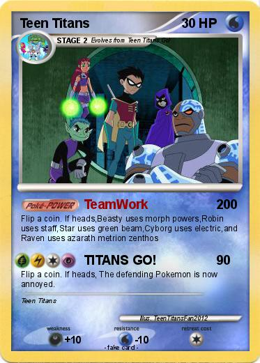 cards teen titan