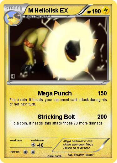Pokémon M Heliolisk EX - Mega Punch - My Pokemon Card