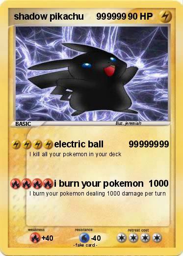 Pokemon Shadow Pikachu 999999 999999