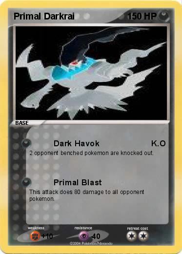 Pokémon Primal Darkrai 3 3 - Dark Havok K.O - My Pokemon Card