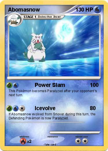 Abomasnow Card Pokémon abomasnow 58 58 - power slam - my pokemon card
