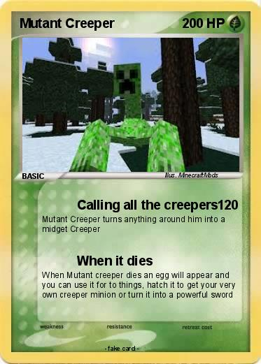 Mutant creeper minecraft card