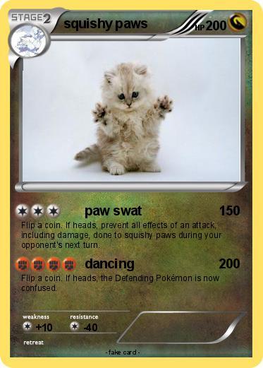 Squishy Dog From Pokemon : Pokemon squishy paws - paw swat - My Pokemon Card