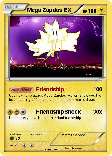 Pokémon Mega Zapdos EX 1 1 - Friendship - My Pokemon Card