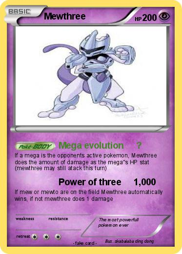 Mewthree evolution
