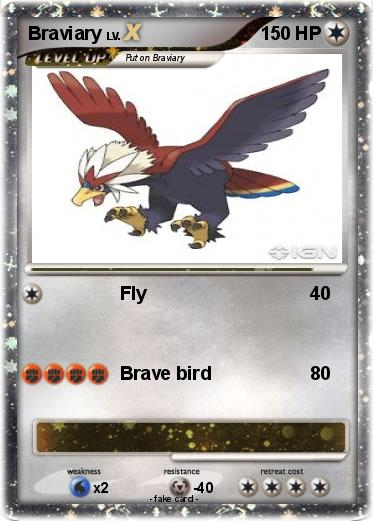 Pokémon Braviary 2 2 - Fly - My Pokemon Card