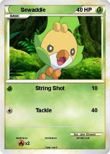 pok233mon sewaddle 4 4 string shot my pokemon card