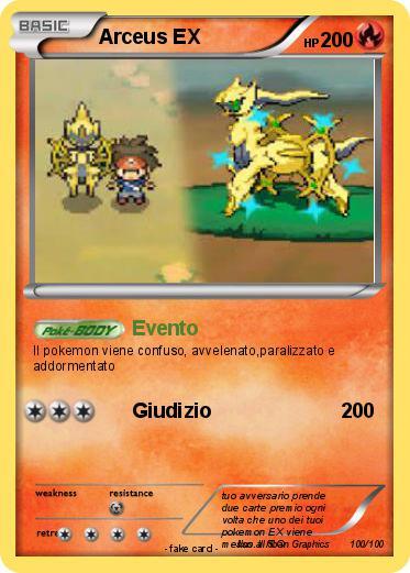 Pok mon arceus ex 463 463 evento my pokemon card - Pokemon arceus ex ...