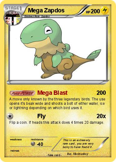 Pokémon Mega Zapdos 1 1 - Mega Blast - My Pokemon Card