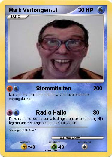 Pokmon Mark Vertongen 1 Stommiteiten My Pokemon Card