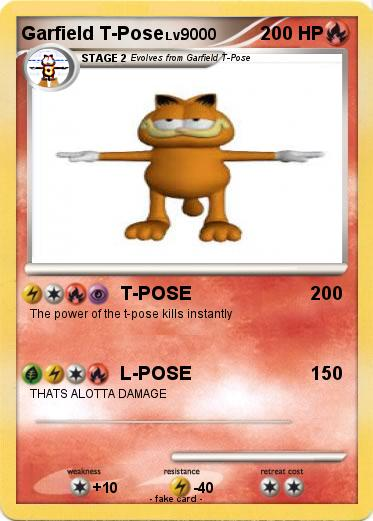 Pokemon Garfield T Pose