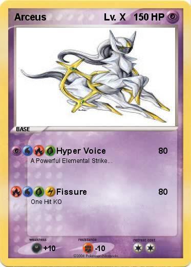 Pok mon arceus lv x 2 2 hyper voice my pokemon card - Pokemon arceus ex ...