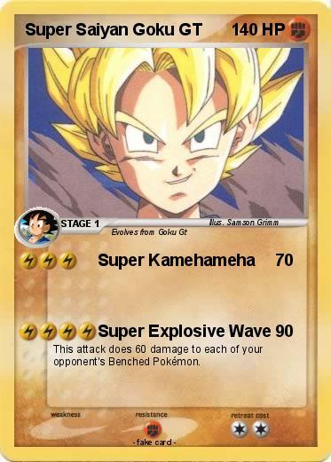 Pokémon Super Saiyan Goku GT 1 1 - Super Kamehameha - My ...