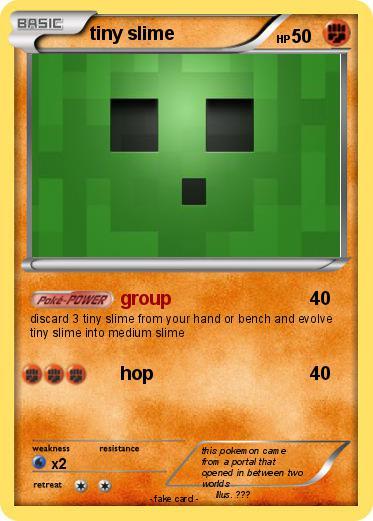 Pokémon tiny slime 5 5 - group - My Pokemon Card