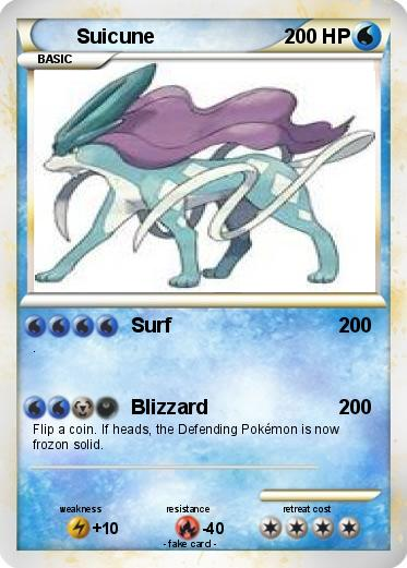Pokémon Suicune 1470 1470 - Surf - My Pokemon Card