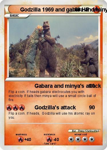 Pokémon Godzilla 1969 and gabara and minya - Gabara and ...