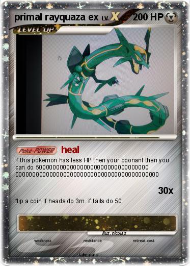 Pokémon primal rayquaza ex 4 4 - heal - My Pokemon Card