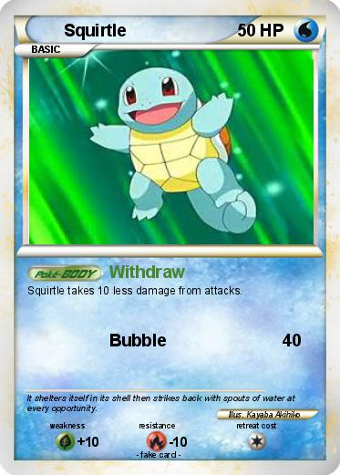 Squirtle Card 95