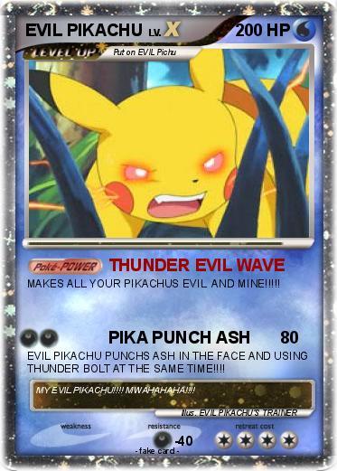Evil Pikachu And Ash Pokemon EVIL PIKACHU