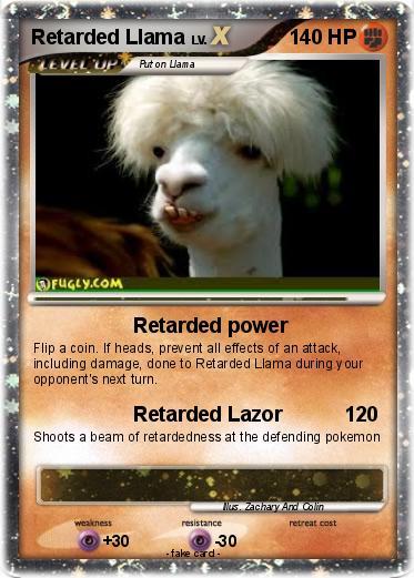 Retarded Llama for Pin...