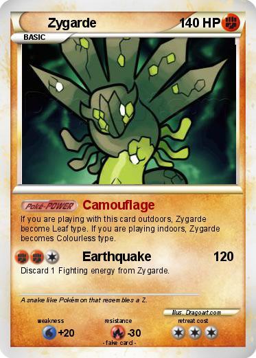 Pokémon Zygarde 16 16 - Camouflage - My Pokemon Card