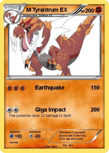 Pokemon M Tyrantrum Ex 4