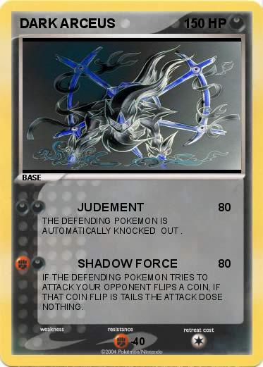 Pokemon DARK ARCEUS. Language Card : english. Creation Date : 10 June 2009