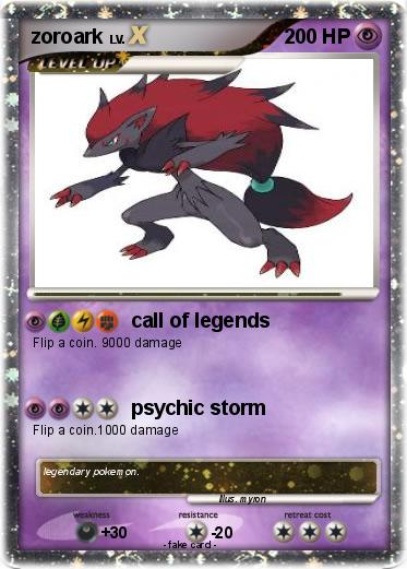 Zoroark Pokemon Card 1000 Damage Pics For > Zoroark ...