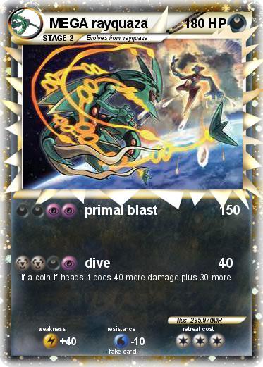 Pokémon MEGA rayquaza 418 418 - primal blast - My Pokemon Card