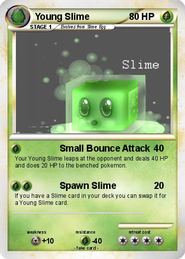 Pokémon Young Slime - Small Bounce Attack - My Pokemon Card