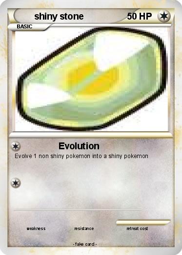Pokémon shiny stone 1 1 - Evolution - My Pokemon Card