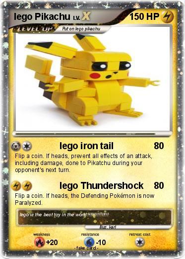 Pokémon lego Pikachu 11 11 - lego iron tail - My Pokemon Card