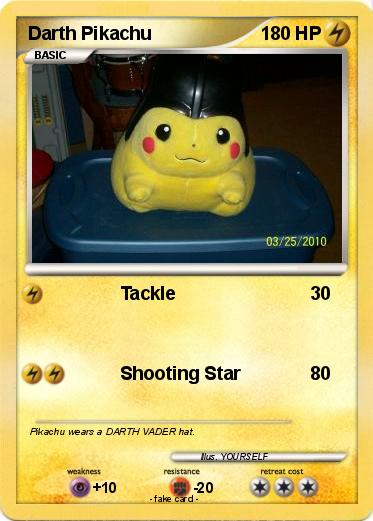 Pokemon Darth Pikachu
