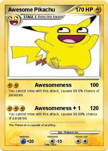 Pokemon Awesome Pikachu
