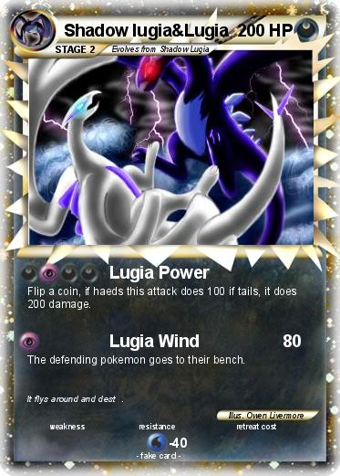Pokemon Shadow lugia&Lugia