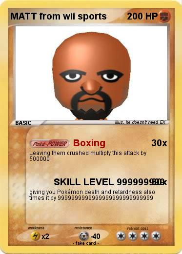 Pokemon MATT from wii sports